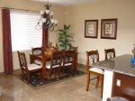 El Dorado Ranch rental condo - dining room table