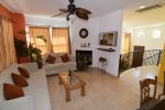El Dorado Ranch San Felipe vacation rental villa 333 - living room with golf course views