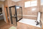 san felipe baja el dorado ranch condo 76-4 second floor bathroom with shower and tub