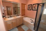 beautiful beach themed San Felipe rental villa - Master bathroom