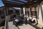 beautiful beach themed San Felipe rental villa - spacious patio