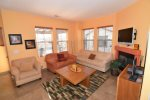 beautiful beach themed San Felipe rental villa - seconf floor living room