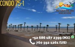 Rental beach condo with panoramic views of the Sea of Cortez