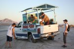 Pinacolada truck on the beach at Pete`s Camp, San Felipe