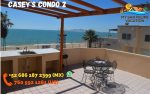 san felipe downtown rental condo 2 - top deck patio beach view