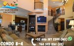 El Dorado Ranch San Felipe Rental villa 8-4  -  Living room view
