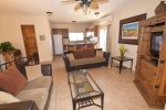 casa baja san felipe mexico rental home - cozy living room on 2nd floor