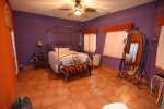 San Felipe vacation rental house - casa roja: Master bedroom ceiling fan