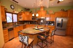 San Felipe vacation rental house - casa roja: Kitchen with island
