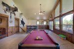 Great space for a pool tournament.  Upper deck access.