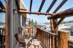 Balcony with Lake view.  Watch July 4th Fireworks from your private perch.