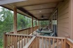 Deck entry from breezeway.