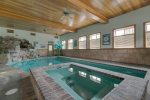 Indoor, salt water leisure and lap pool with spa.