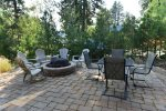 Patio and Firepit.  Dine outdoors, electric BBQ.