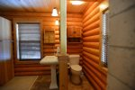 Attached bathrom with walk in shower.