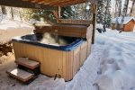 Hot tub is private to booked guests.