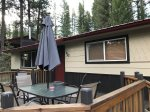 Payette River Cabin Front Deck