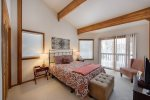 Upper level, Master Suite has private balcony access and King bed.