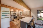 Recently remodeled and beautifully equipped kitchen.  Counter seating too