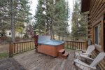Large hot tub in lovely, wooded setting.