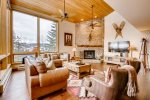 Large Living room with Fire Place Potato Patch Club Vail CO