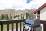 Gas Grill with views of mountain