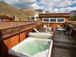 Private Roof Top Hot tub and deck with mountain views