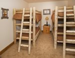 Fourth bedroom with two twin bunk beds