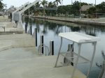 Looking South on Canal with Fish Cleaning Table And Cut In Concrete Dock