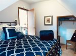 Red Lodge Town Cottage - Upstairs Bedroom with Double Full Bed