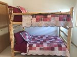 Beartooth Montana Getaway - Upstairs Bedroom with Double Bunk Bed