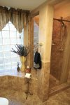 Guest bath with tub and shower
