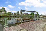 Boat dock and lift available for rental boat
