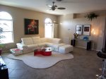 Contemporary furnished family room
