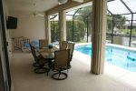 Large covered lanai with bbq grill