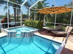 Electric heated pool/spa with lounges
