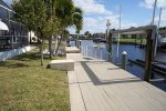 Water front with boat dock and lift