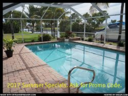 Casa Chloe - Cape Coral 3b/2ba home w/electric heated pool, gulf access canal, HSW Internet, Boat Dock
