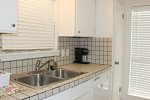 The master bedroom has a king size bed and ia walking distance to the pool