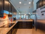 Fully equipped kitchen with brand new stainless steal appliances