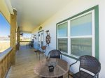 Enjoy gorgeous views of Copano Bay from the upstairs patio