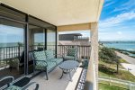 Views of Aransas Bay from the private balcony