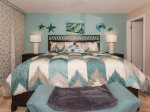 Beach decor in the master bedroom