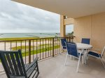 Cooling breezes and bay views from the patio