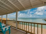 Gorgeous views of Copano Bay from the upper deck