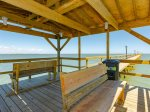 1000 foot fishing pier for guests