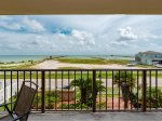 Gorgeous views of Aransas Bay from the private balcony