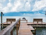 End of the private fishing pier on Copano Bay