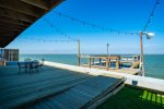 The upstairs deck with gorgeous views of Copano Bay