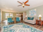Coastal decor and comfortable seating in the living room